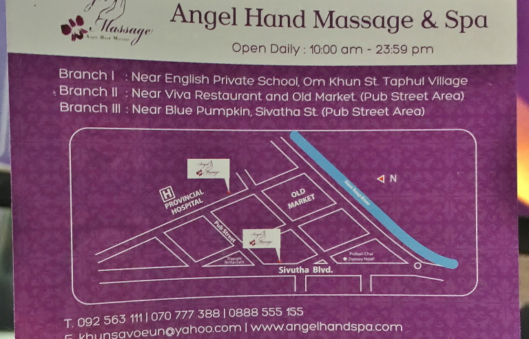 Angel Hand Massage 地図 位置