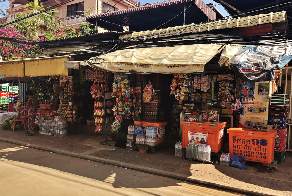 カンボジア 雑貨屋
