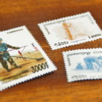 おみやげにカンボジアの切手を買ってみた!