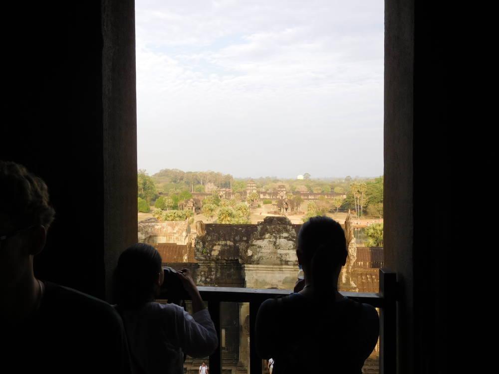 アンコールワット 中央祠堂からの眺め